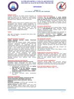 Hemogram Dökümanı - KBUDEK Eksternal Kalite Kontrol Programı