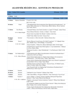 konferans programı - Akademik Bilişim 2014