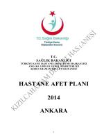 HASTANE AFET PLANI 2014 ONAYLI görev bilgileri ve hareket tarzı