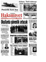 19 Şubat 2015 Perşembe - Çorum Hakimiyet Gazetesi