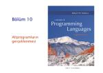 Alt programların gerçeklenmesi
