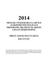 Dikey Geçiş Sınavı(DGS)