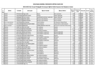 2014-2015 Formasyon Kesin Kayıt Listesi(Asil