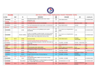 2014-2015 TÜRKİYE YÜZME FEDERASYONU FAALİYET Program