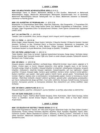 1. SINIF 1. DÖNEM MKM 105 MEKATRONİK