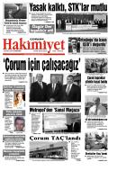 (24 eyl\374l.qxd) - Çorum Hakimiyet Gazetesi