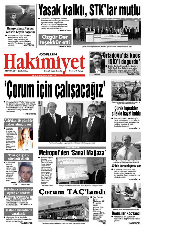 24 Eyl 374l Qxd Corum Hakimiyet Gazetesi