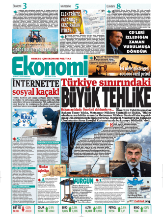 22 MART 2014 - Ekonomi Gazetesi