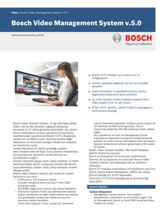 Bosch Video Management System v.5.0