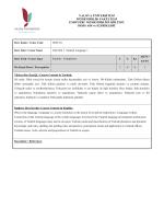 Ders İçerikleri - Yalova Üniversitesi