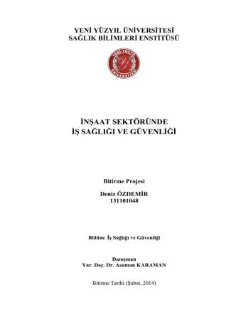 Deniz odev - İstanbul Yeni Yüzyıl Üniversitesi