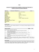 EK 2 - Türk Dili ve Edebiyatı Bölümü