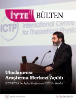 Sayı 18 - İzmir Yüksek Teknoloji Enstitüsü