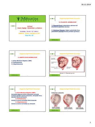 10.Sınıf Kadın Sağlığı Hastalıkları ve Bakımı 14.Hafta ( 15