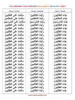 Cemi Müzekker Salim Merfu/Ref Mansup/Nasb Mecrur/Cer Halleri