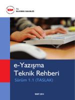 e-Yazışma Teknik Rehberi - e