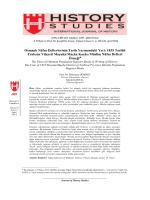 Osmanlı Nüfus Defterlerinin Tarih Yazımındaki Yeri