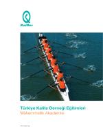 Türkiye Kalite Derneği Eğitimleri Mükemmellik Akademisi