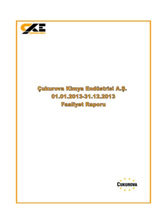 2013 - Çukurova Kimya