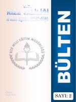Ocak 2015 - Rize İl Milli Eğitim Müdürlüğü