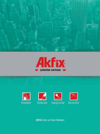 Akfix 2014 Fiyat Listesi