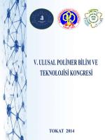 Bildiri Kitapcığı(Yeni) - V.Ulusal Polimer Bilim ve Teknolojisi Kongresi