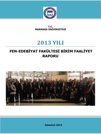 2013 Yılı Fen-Edebiyat Fakültesi Birim Faaliyet Raporu