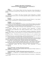 Turizm İşletmeciliği ve Otelcilik Yüksekokulu Staj Yönergesi (PDF)