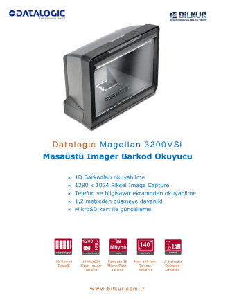 Datalogic Magellan 3200VSi Teknik Özellikler
