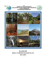 Balıkesir Doğa Turizmi Master Planı - Orman ve Su İşleri Bakanlığı III