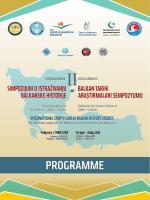 Program - II. Uluslararası Balkan Tarihi Araştırmaları Sempozyumu