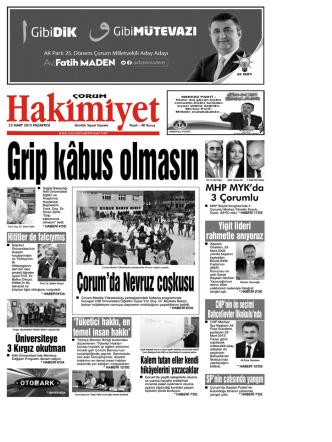 23 mart.qxd - Çorum Hakimiyet Gazetesi