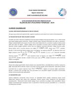 ölçme bilgisi uygulaması yönergesi - 2014 a