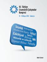 III. - Türkiye Lisansüstü Çalışmalar Kongresi