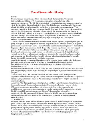 cemal şener – alevilik olayı pdf