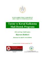 Başvuru Rehberi - KKTC Gıda Tarım Enerji Bakanlığı
