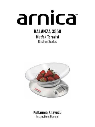 BALANZA 3550 Mutfak Terazisi