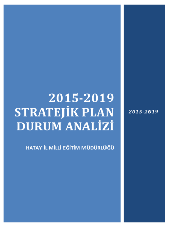 2015-2019 STRATEJİK PLAN DURUM ANALİZİ