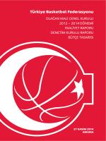 Türkiye Basketbol Federasyonu - Spor Genel Müdürlüğü
