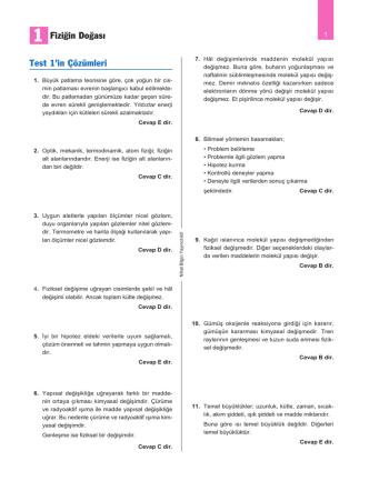 05 madde ve özellikleri - Nihat Bilgin Yayıncılık