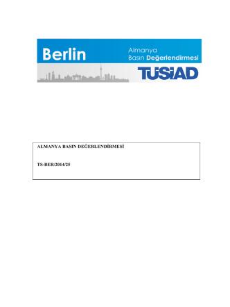 Almanya Basın Değerlendirmesi, Eylül 2014