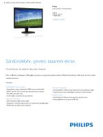 Product Leaflet: P-line 24 inç / 61 cm LCD monitör ve