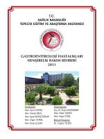 gastroenteroloji hastalıkları hemşirelik bakım rehberi 2011