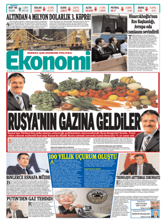 20 EKİM 2014 - Ekonomi Gazetesi