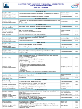 18 mart 2015 programı