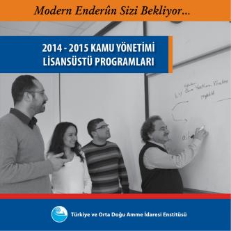 2014 - 2015 KAMU YÖNETİMİ LİSANSÜSTÜ