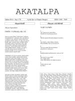 Şubat 2014 - Sayı 170 Aylık Şiir ve Eleştiri Dergisi ISSN