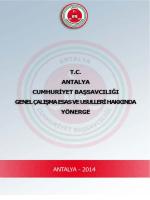 Yönerge - Antalya Adliyesi