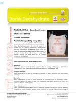 Borax Decahydrate - Eti Maden İşletmeleri