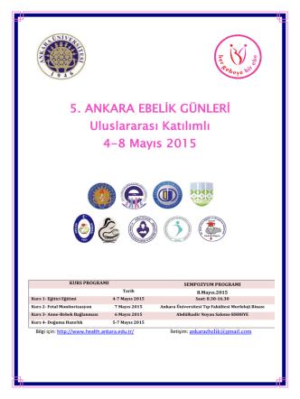 5. ANKARA EBELİK GÜNLERİ Uluslararası Katılımlı 4